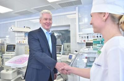 Мэр Москвы Сергей Собянин осмотрел родильный дом в городской клинической больнице N36