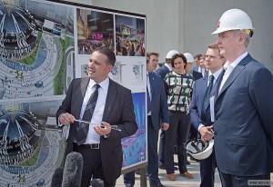 Мэр Москвы Сергей Собянин провёл выездное заседание городского штаба по строительству, посвящённое вопросам реализации проекта создания ММДЦ «Москва-Сити»