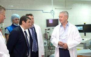 Мэр Москвы Сергей Собянин в рамках рабочей поездки посетил в Севастополе больницу № 1 им. Пирогова