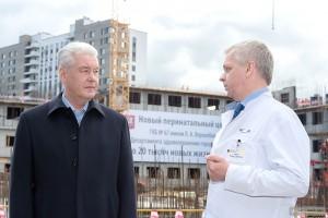 Мэр Москвы Сергей Собянин посетил стройку крупнейшего в Европе перинатального центра