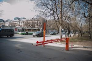 Шлагбаум в Даниловском районе