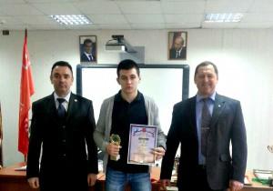Награждение Владислава Гетманского