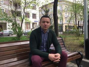 Заслуженный артист России Александр Олешко участвует в акции Моя Победа, которая проходит в ЮАО Москвы
