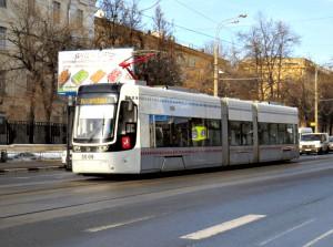Трамвай нового типа в Москве