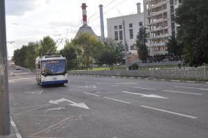 Троллейбус в Даниловском районе