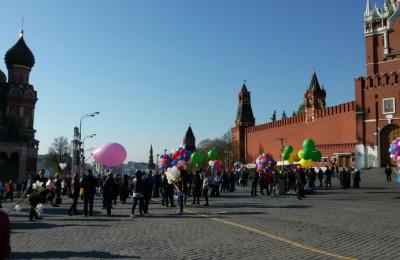 Шествие 1 мая на Красной площади