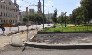 Благоустроительные работы на Люсиновской улице