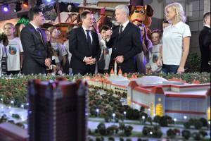 Мэр Москвы Сергей Собянин на презентации будущего парка Остров мечты