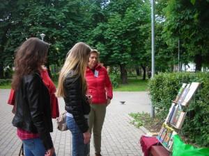 Открытие летней читальни в Даниловском районе