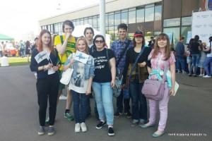 Студенты техникума имени Красина на празднике