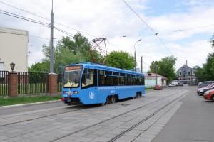 Трамвай нового образца в Москве