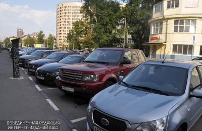 Автомобильная парковка в Даниловском районе