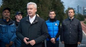 Сергей Собянин осмотрел итоги благоустройства Лужнецкой набережной в Москве