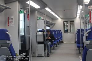 Салон поезда МЦК