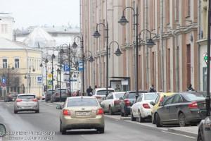 Одна из центральных улиц в Москве