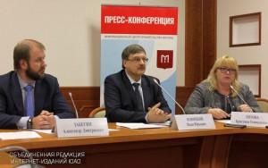 Заместитель руководителя Департамента топливно-энергетического хозяйства Москвы Иван Новицкий на пресс-конференции
