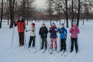 Лыжники в ЮАО