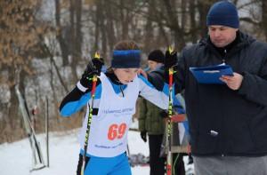 Лыжница Ангелина Шевцова и ее тренер