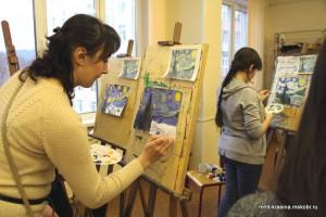 Участники арт-субботы в техникуме им. Красина
