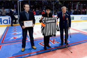 Церемония передачи в дар Фонду Тимченко и Музею хоккея коллекции Михаила Галиновского