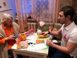 Александр Паронов на встрече с ветераном