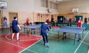 Студенты техникума имени Красина на соревнованиях по теннису