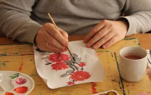 Мастер-класс по китайской живописи в техникуме имени Красина