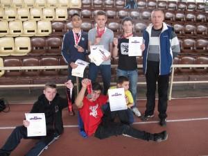 Воспитанники школы-интерната с наградами Первенства Москвы по легкой атлетике