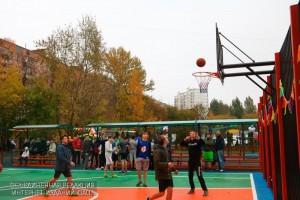 Стритбол на спортивном фестивале