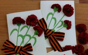 Поздравительные открытки для ветеранов подготовили лицеисты района