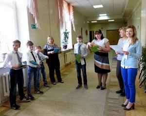 Ученики школы-интерната посетили торжественную линейку