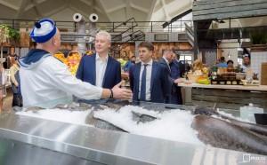 Мэр Москвы Сергей Собянин посетил Днаиловский рынок после реконструкции