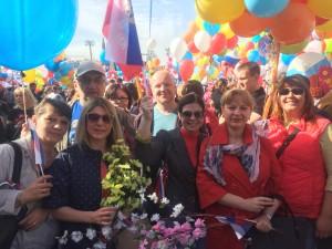 Представители Совета депутатов Даниловского района на первоймайском шествии