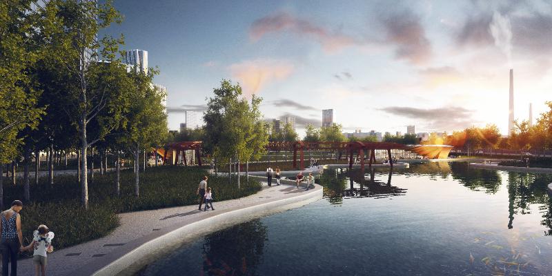 Проектное решение парка на территории ЗИЛа