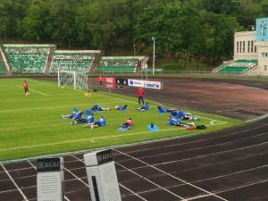 Сборная России по футболу провела открытую тренировку на стадионе имени Эдуарда Стрельцова в Москве