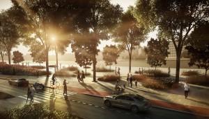 Проектное изображение парка на территории ЗИЛа