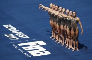 Синхронистки на Чемпионате мира в Венгрии