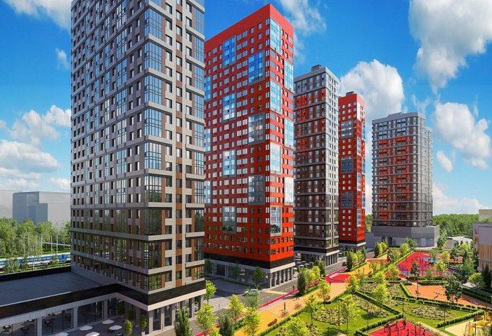Проектное изображение жилого комплекса в Даниловском районе