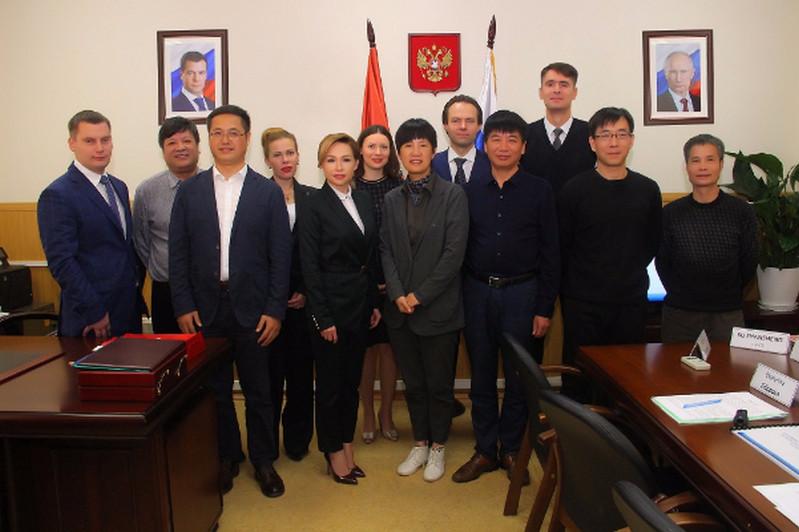 Состоялась встреча с китайской делегацией