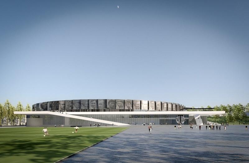 С новой архитектурной концепцией стадиона имени Стрельцова можно ознакомиться в информационном центре
