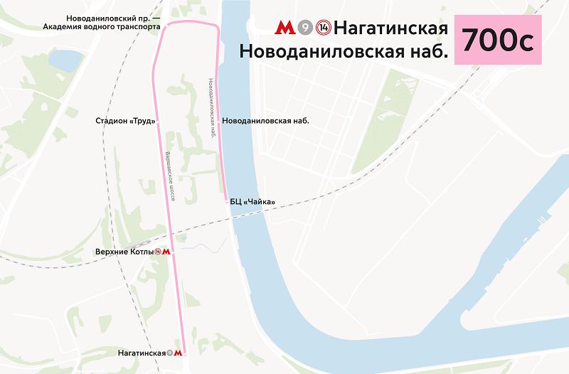 автобус 700, 700 с, маршрут, транспорт, мосгортранс