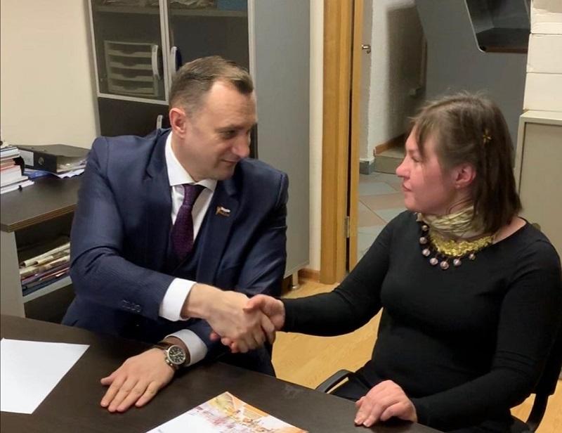Аркадий Павлинов, встреча с жителями,