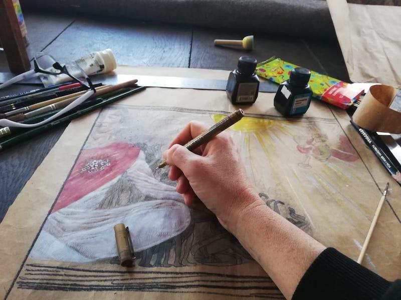 мсатер-класс рисование