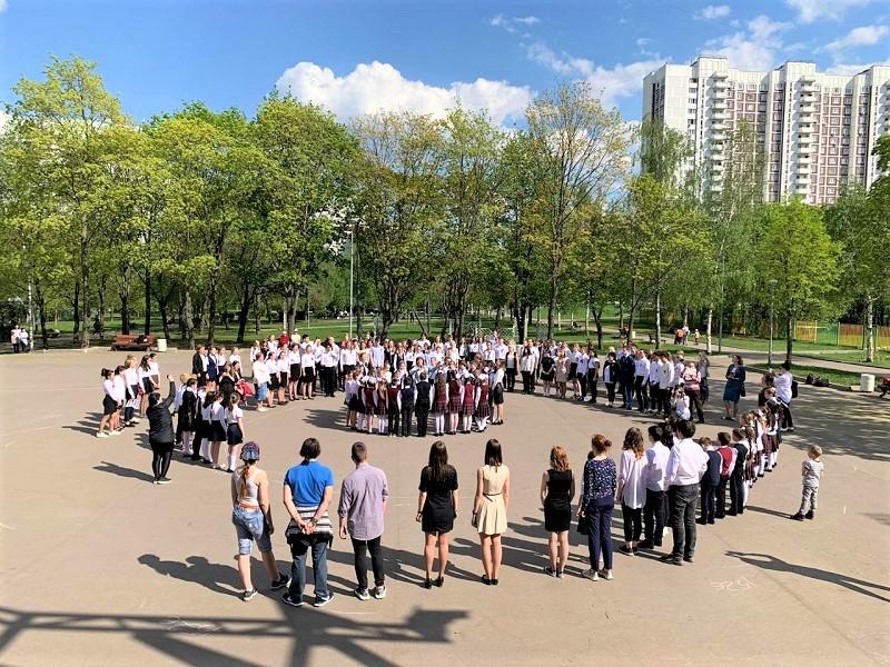Мой-район_флешмоб школьники 9 мая день победы